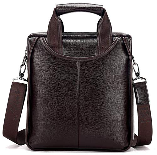 Men Briefcase Business Shoulder Bag Messenger Bag Leather Handbag Laptop Bag Vertical section1 ()