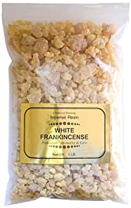 White Frankincense - 1 Pound Resin Incense - Charcoal Burning Gold Label