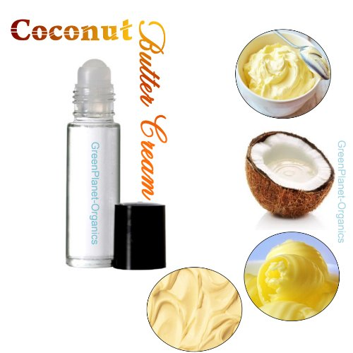 Set of 2: Butter Cream Coconut Perfume Oils (Top Buttercream Notes With Creamy Coconut Notes At The Base) Phthalate Free & Made in USA