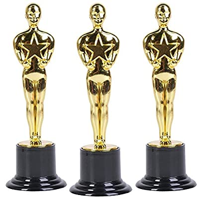 Gold Award Trophy, 6-Inch tall (4-Pack): Toys & Games