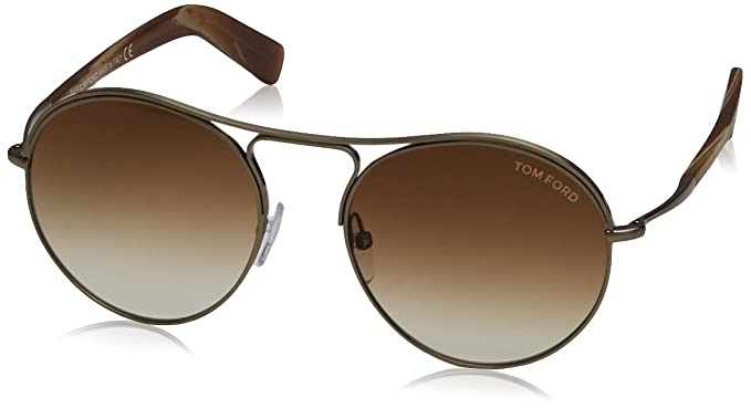 4a9efcf8d9c Image Unavailable. Image not available for. Color  Tom Ford Sunglasses TF  449 Jessie 33F Gold Brown Multicolor 54mm