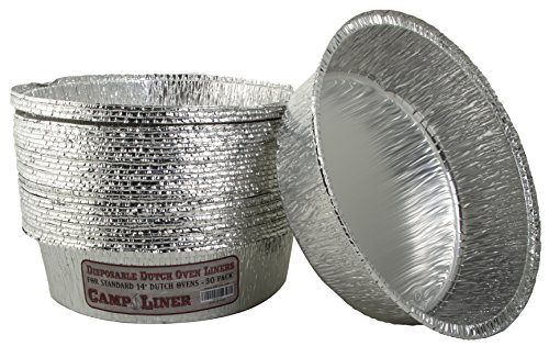 Campliner Dutch Oven Liners, 30 Pack of 14 8 Quart Disposable Liners – No More Cleaning or Seasoning. Fits Lodge, Camp Chef, and other Cast Iron Dutch Ovens