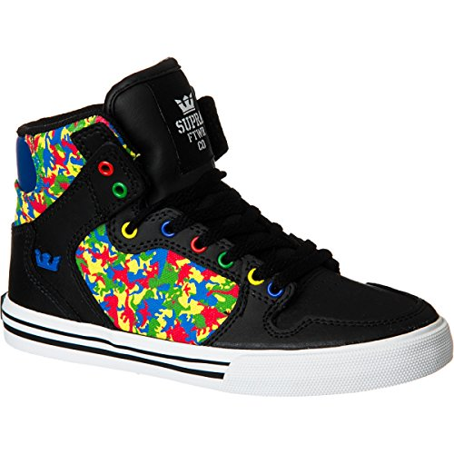SUPRA Shoes KIDS VAIDER BLACK/CAMO-WHITE/ROYAL (camouf Negro - negro