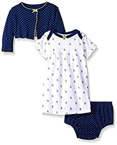 Gerber Baby Three-Piece Cardigan, Dress and Diaper Cover Set, Bees, 18 Months Size: 18 Months SpecialSizeType: Baby Color: Bees, Model: 89541316AGR318M, Newborn & Baby Supply