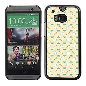 ZECASE Funda Carcasa Tapa Case Cover Para HTC One 2 M8 No.0000144