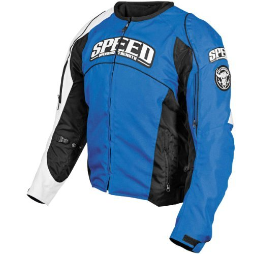 Speed and Strength Top Dead Center Men's Textile On Road Motorcycle Jacket - Blue / X-Large