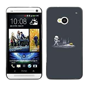 All Phone Most Case / Oferta Especial Duro Teléfono Inteligente PC Cáscara Funda Cubierta de proteccion Caso / Hard Case HTC One M7 // Funny Storm Troop