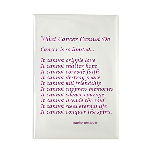 CafePress What Cancer Cannot Do Poem Rectangle Magnet Rectangle Magnet, 2