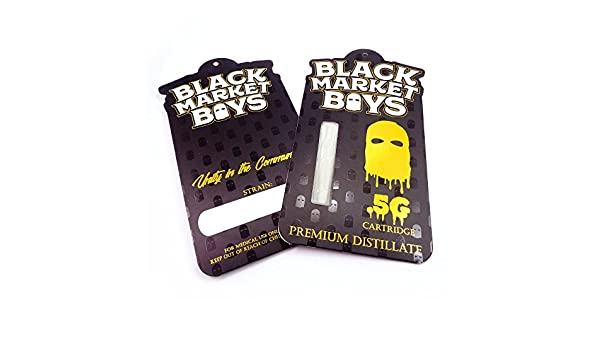 Amazon com : 50 Black Market Boys Shatter Labels Empty