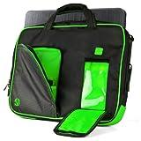 VanGoddy Pindar Sling - BLACK LIME FOREST GREEN Pro Deluxe Shoulder Messenger Carrying Bag for Lenovo Yoga 3 & 2 13.3 inch Laptop