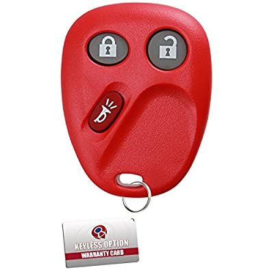 KeylessOption Keyless Entry Remote Control Car Key Fob Replacement for LHJ011 - Red: Automotive