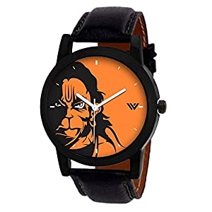 Shree Enterprise Analogue Black Dial with Picture of Hanuman Men's Watch