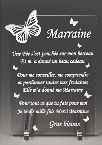 1 Poème Parrain 1 Marraine Papillon Baptême