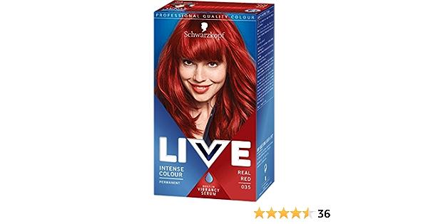 Schwarzkopf - Live Intensive - Tinte para el pelo de color rojo real 035