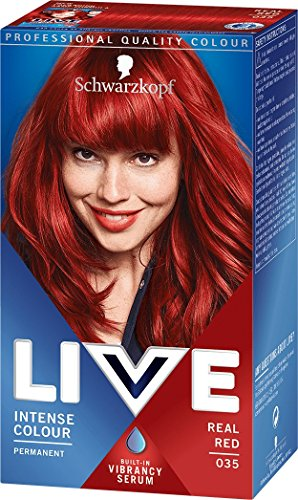 (Schwarzkopf Live Intense Permanent Hair Colour, Real Red (number 35),)