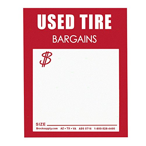 500 Piece Box Set Staple On Used Tire Tag Sales Labels Red & White 4