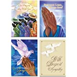 "African American Expressions - Sympathy Boxed Card Assortment (Box of 12, cards 5"" x 7"") ABSY-720"