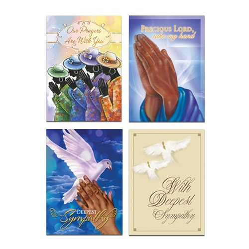 "Office Products : African American Expressions - Sympathy Boxed Card Assortment (Box of 12, cards 5"" x 7"") ABSY-720"