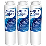 AQUACREST NSF 401&53&42 Replacement MSWF Refrigerator Water Filter, Compatible with GE MSWF SmartWater 101821B 101820A (Pack of 3)