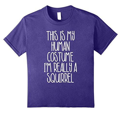 Cute Simple Last Minute Halloween Costumes (Kids Cute Simple Squirrel Halloween Costume Shirt for Girls Boys 8 Purple)