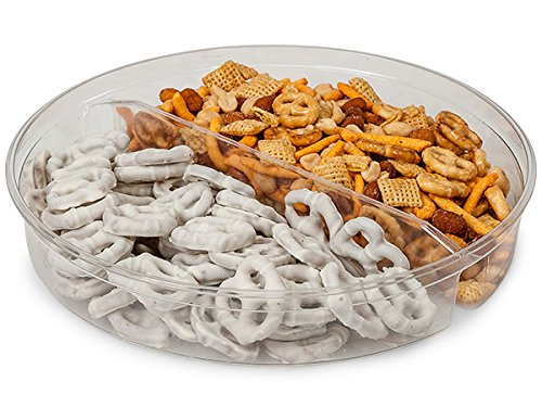 60 oz Round Container w/2 Dividers (100 Pack )