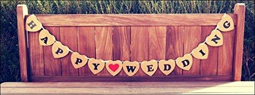 포토 사진 소품 스 하트 플레이트 (JUST MARRIED) / (HAPPY WEDING) BROWN 결혼식 이차 생일 파티 사진 소품 화환 (HAPPY WEDDING)