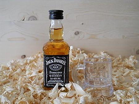 Botellin miniatura Whisky con vastito chupito - Pack de 6 unidades
