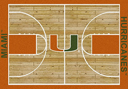 Miami, Florida Hurricanes College Basketball 7x10 Rug from Miliken