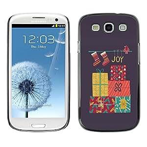 [Neutron-Star] Snap-on Series Teléfono Carcasa Funda Case Caso para Samsung Galaxy S3 [Carismas Decoración gris invierno]