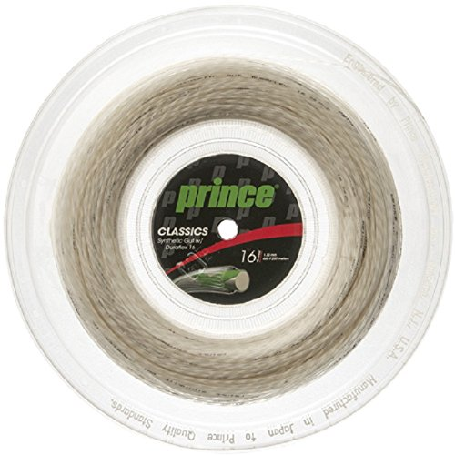 Prince Synthetic Gut with Duraflex 16g White Tennis String Reel ()