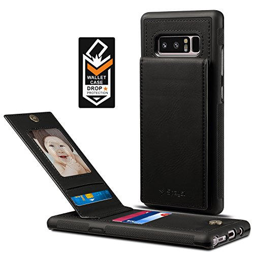 Samsung Galaxy Note 8 Card Holder Case, Note8 Wallet Case Spaysi (TM) Slim, Galaxy Note 8 Folio Leather case, Flip Cover, Gift Box, for Note 8 (Black)