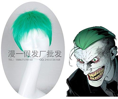 MOOI Suicide Squad Joker Men's Short Straight Wig Cosplay Costume Wig ( Neon Green )