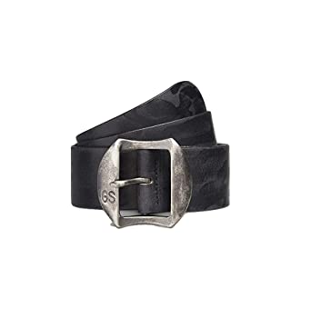 a34644fdab2e G Star RAW Stanton Belt in Black Cuba Washed Leather