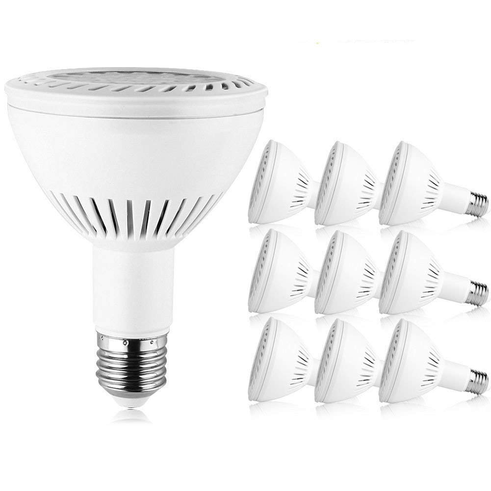 Recessed Lighting UL /& Energy Star Listed TOPCHANCES 10 Pack PAR30 LED Spotlight Bulb E27 Base 25/° Beam Angle 36W Flood Light Bulb Non-Dimmable 2700K Cool White