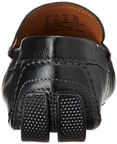 Clarks Davont Drive - Zapatillas de casa de cuero hombre Negro (Blk Tumbled Lea)