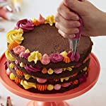 Wilton decorator preferred cake decorating set, 48-piece 8 buttercream decorators dream: everything you need to create amazing cakes for birthdays, mother's day, weddings, baby showers and special events. Adorn your creation with beautiful blooms including large rosettes and multi-colored star blossoms. 48-piece set includes: 4 couplers, 4 tip covers, cleaning brush, flower nail, decorating bags, 2 spatulas, 2 bake even cake strips and 16 decorating tips to make beautiful flowers and designs. All you need to decorate cakes, pastries and cupcakes. Elegant orgainization: comes in an attractive clear storage caddy. A lift-out compartment holds tips, icing colors and couplers. Plus the lid fits underneath to save valuable decorating space. It's easy to find what you need when you need it.