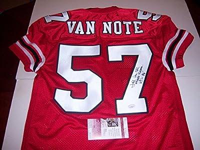 Jeff Van Note Autographed Jersey - kentucky Wildcats Jsa coa - Autographed NFL Jerseys