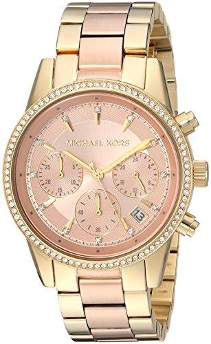 Michael Kors Watches Ritz Two-Tone Chronograph Watch