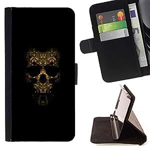 Momo Phone Case / Flip Funda de Cuero Case Cover - Modelo del cráneo;;;;;;;; - Samsung Galaxy S5 V SM-G900