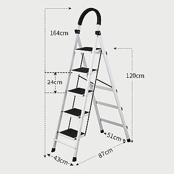 MJK Hogar telescópica Escalera plegable de múltiples funciones de ...