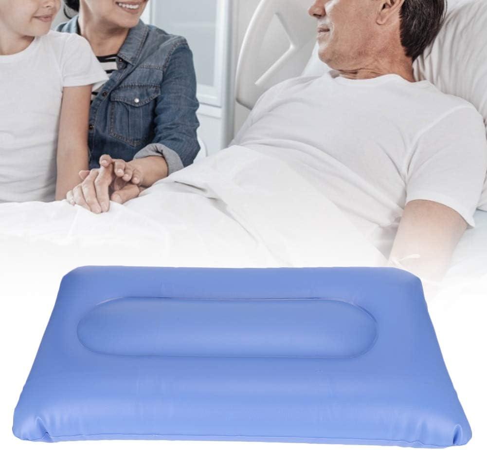 Colchón inflable de aire, alivio de presión y antiescaras, tratamiento para prevenir el decúbito Cojín de alivio del dolor con bomba, para el cuidado de ancianos(Los 55x32cm)