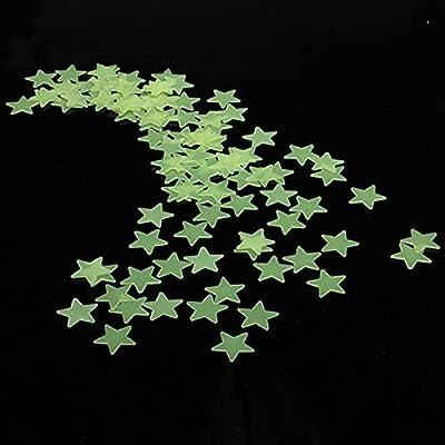 Moon And Stars Wall Decal Star War Wall Stickers Honana DX-010 100PCS 3CM Fluorescent Glow Star Wall Sticker