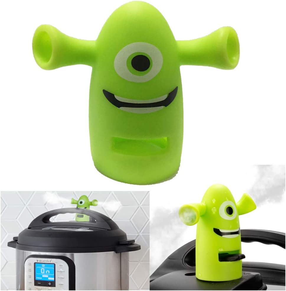 Pressure Release Diverter for Instant Pot, Sumille Silicone IP Steam Diverter Pressure Cookers Valve Accessory Compatible with Instapot Ultra, Smart, DUO, Duo Plus (Shrek)