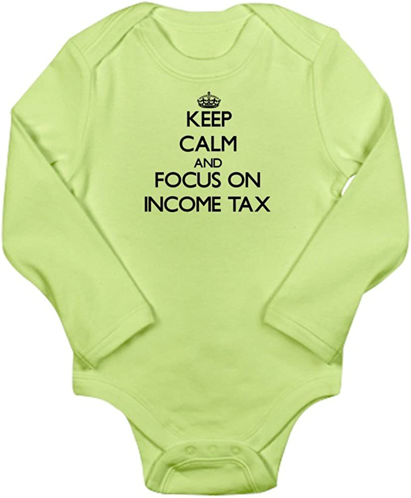 CafePress Keep Calm and Focus on Income Tax Baby Bodysuit