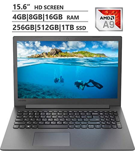 Lenovo Ideapad 130 15.6″ HD Display Laptop, AMD A9-9425 up to 3.70GHz, 4GB 8GB 16GB RAM, 256GB 512GB 1TB SSD, Wireless-AC, Bluetooth, Windows 10 Home, Black