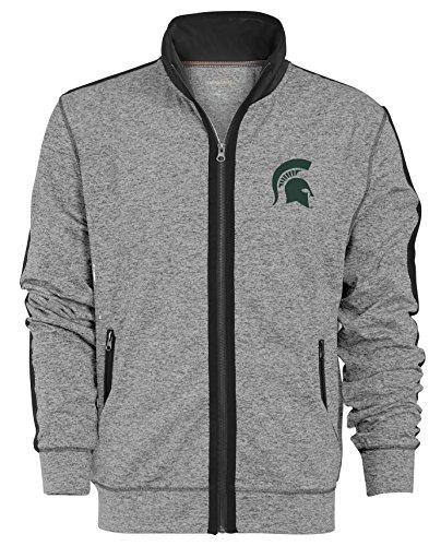 State Track Jacket - NCAA Michigan State Spartans Men's Premium Full Zip Track Jacket, X-Large, Gunpowder