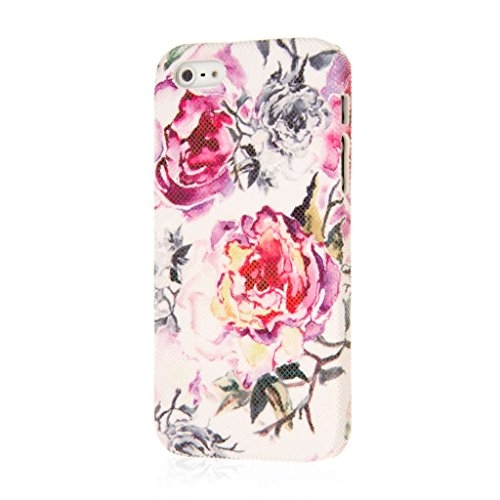 EMPIRE Signature Series Slim-Fit Case Hülle Tasche für Apple iPhone 5 / 5S – Pink Faded Flowers