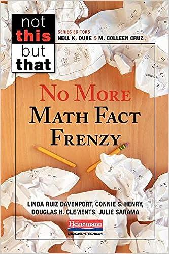 Amazon com: No More Math Fact Frenzy (9780325107325): Linda