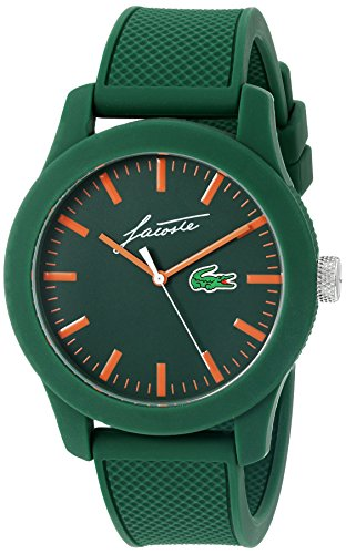 Lacoste Men's '12.12' Quartz Resin and Silicone Casual Watch, Color: Green (Model: 2010862)