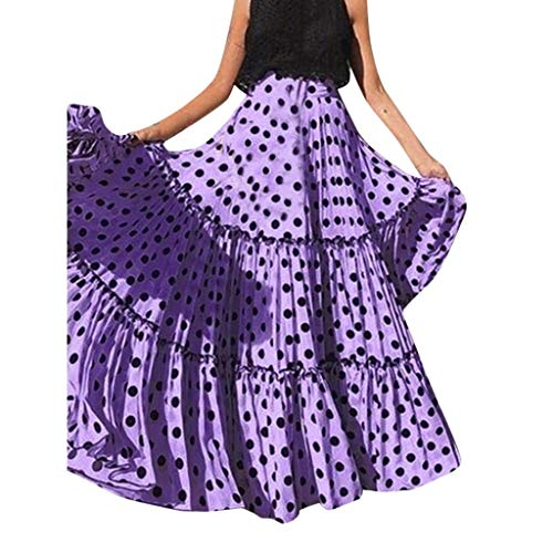 KIKOY Women Fashion High Waist Polka Dot Skirt
